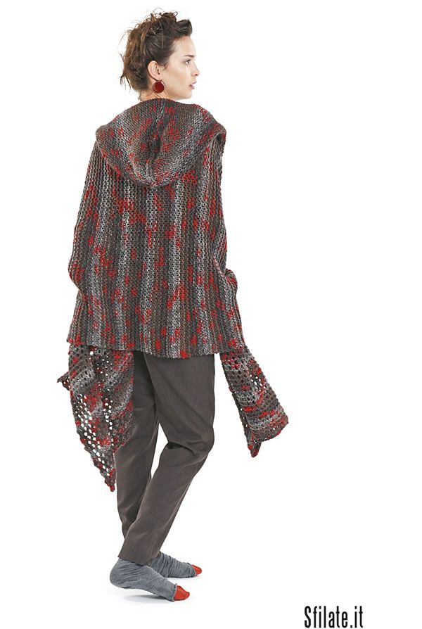 Martino Midali, love this hooded cardi, love the way he mixes colors!