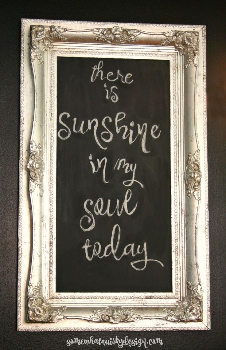 176 Best Images About Chalkboard Projects On Pinterest