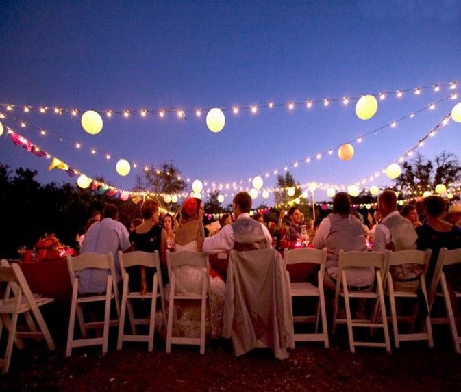 Providing The Proper Wedding Lighting For Your Outdoor Party Is A Must Will Give Fantastic Effect As Well