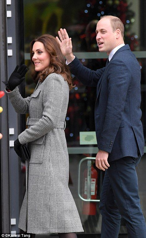 The Duchess opted for an L.K. Bennett coat and it may have been inspired by someone in the family circle
