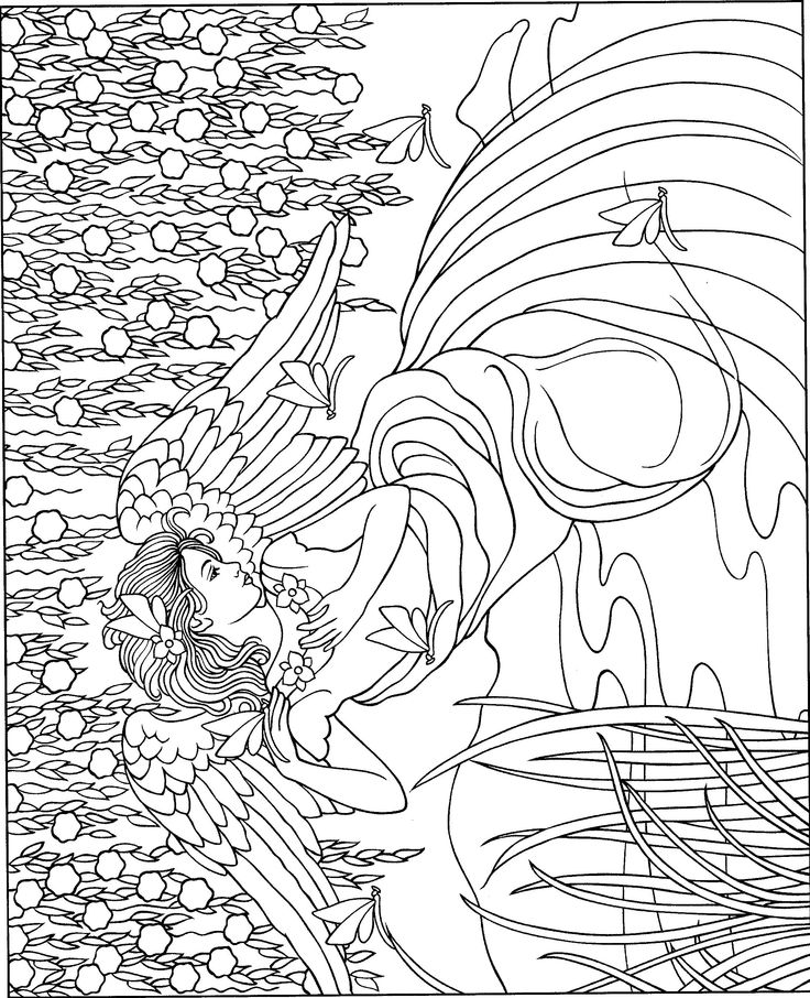 warrior angel coloring pages - photo#26