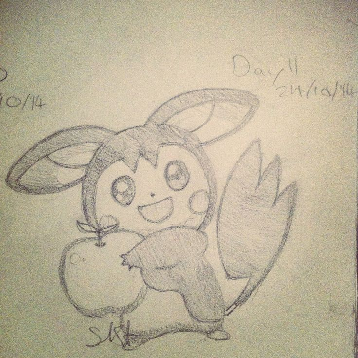 I need to improve my drawing ability so I'm challenging myself to draw every day for 30 days. Here's day 11: Emolga