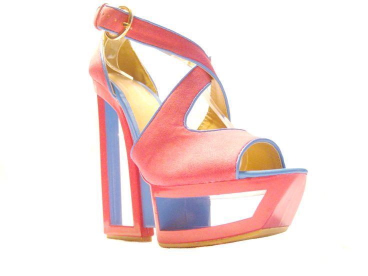sandali fucsia neon