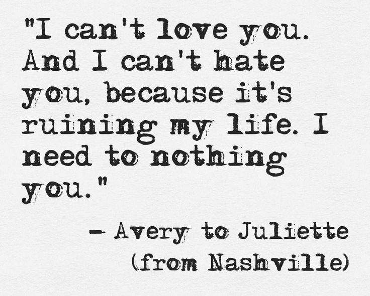 I love the TV show Nashville. This line just made me cry. ~ Elle Bennett, Author