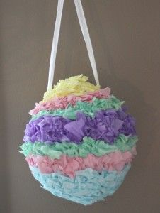 Easy instructions for making an Easter Egg pinata. http://fabulesslyfrugal.com/2011/04/how-to-make-an-easter-egg-pinata.html
