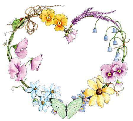 Garden Heart Wreath - would look great painted on a rock
