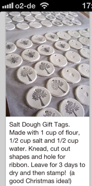 Salt Dough Gift Tag
