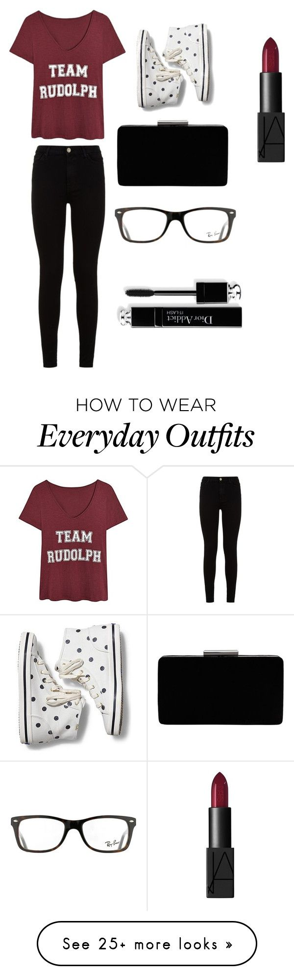 """""""Everyday Outfit #2"""" by flighht on Polyvore featuring 7 For All Mankind, Keds, John Lewis, Ray-Ban and NARS Cosmetics"""