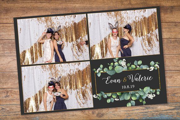 Dark Eucalyptus Photo Booth Template Photo Booth Wedding Photobooth Background Photobooth Template