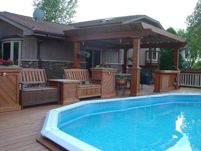 Above Ground Pools Decks Idea | ... above ground pool deck ideas wood picture gallery of above ground pool