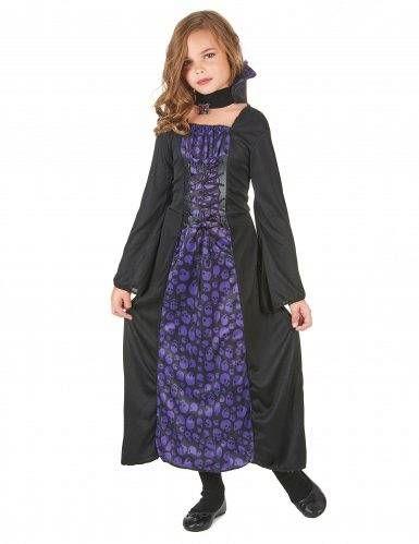 Prezzi e Sconti: #Costume vampiro viola con teschi bambina 7/9  ad Euro 11.99 in #Kelkoo #Maschere e costumi