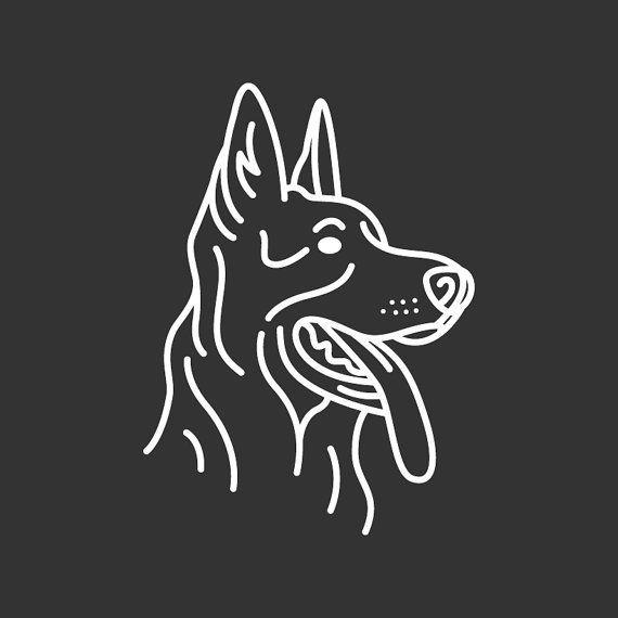 German Shepherd Decal Gd125 By Goldendoodlegoods On Etsy