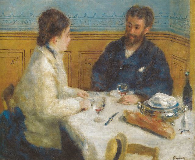 All sizes | Pierre Auguste Renoir - The Luncheon (Le Dejeuner), 1875 at Barnes Foundation Philadelphia PA | Flickr - Photo Sharing!