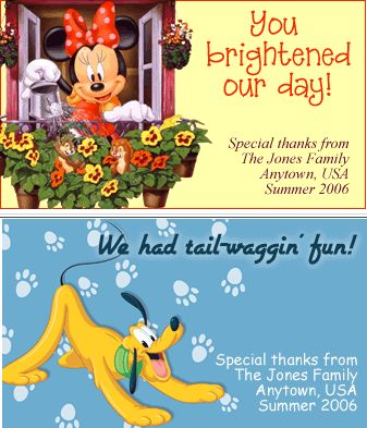 Cast Member Appreciation Cards. Download from http://tagrel.com/APP/2006/classic/CMCards.shtml #disney