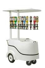 shaved ice push cart