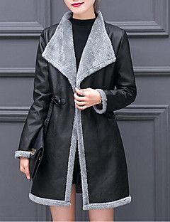 298ccfc75354b Women s Daily   Going out Street chic   Sophisticated Winter Plus Size Long  Coat
