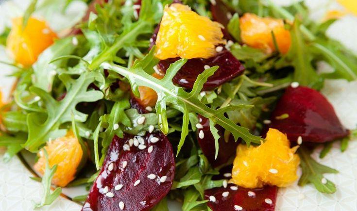 Σαλάτα με παντζάρια και πορτοκάλι