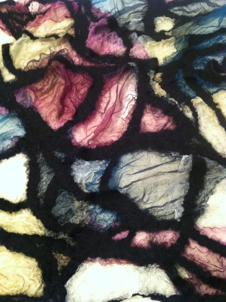 Stained glass nuno felt