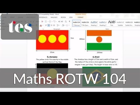 Area of Flags - TES Maths ROTW 104 - Mr Barton Maths Blog