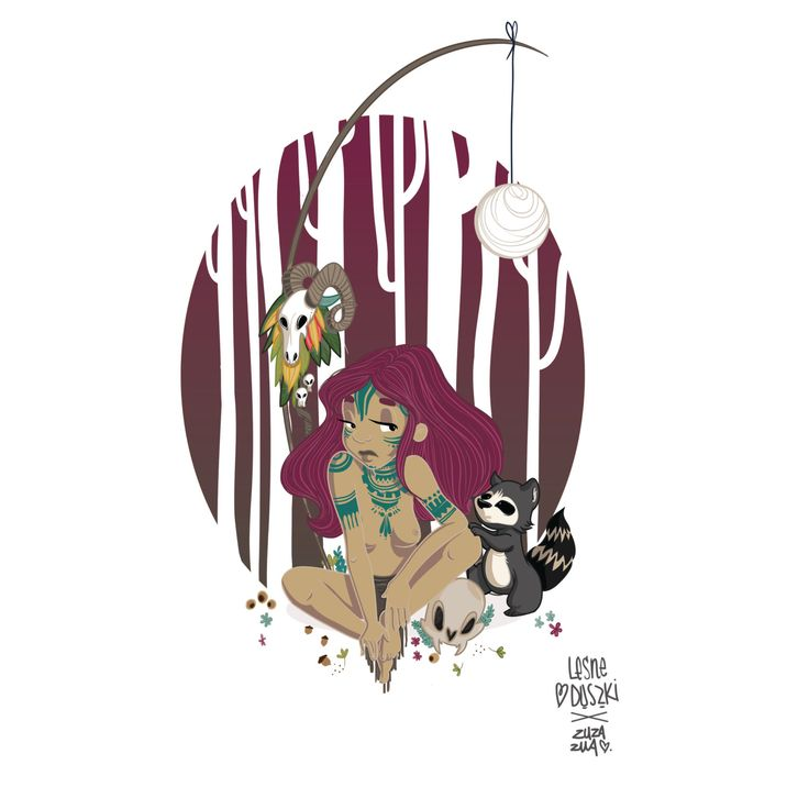 Forest Spirits - Ilustration by MartynaZuzaZuaBogusz on Etsy