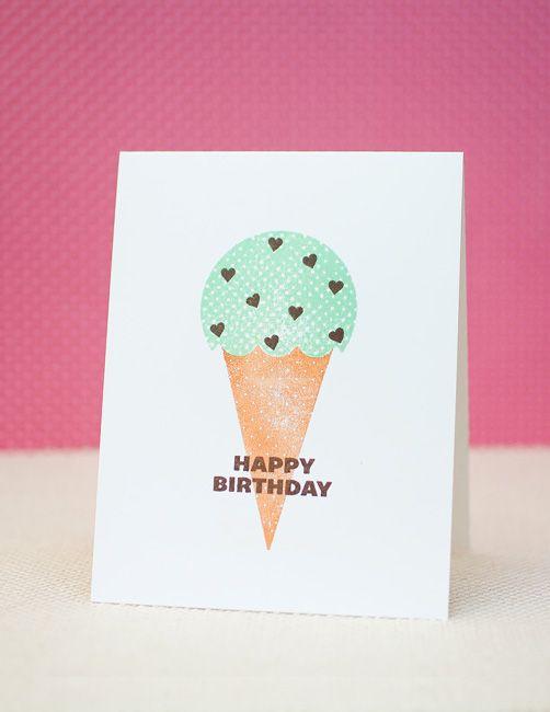 Waffle Flower: Ice Cream Birthday Card+Giveaway