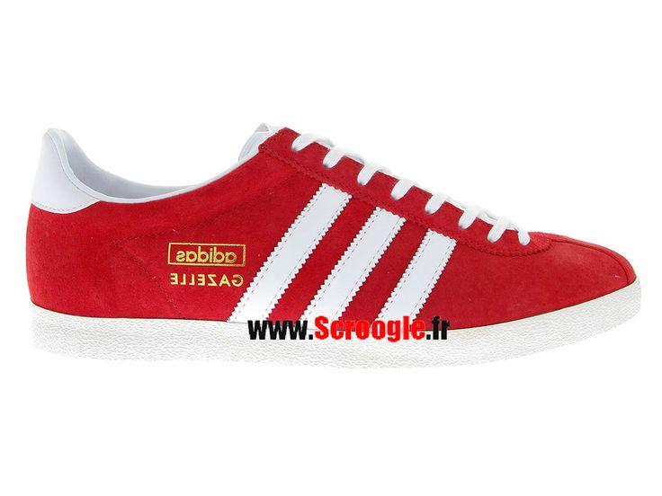 Chaussures de Originals Pas Cher Pour Homme/Femme Adidas Gazelle OG Université Rouge G63199