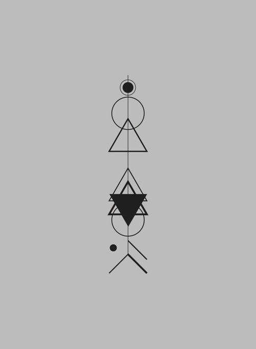 Tattoo idea with geometric forms