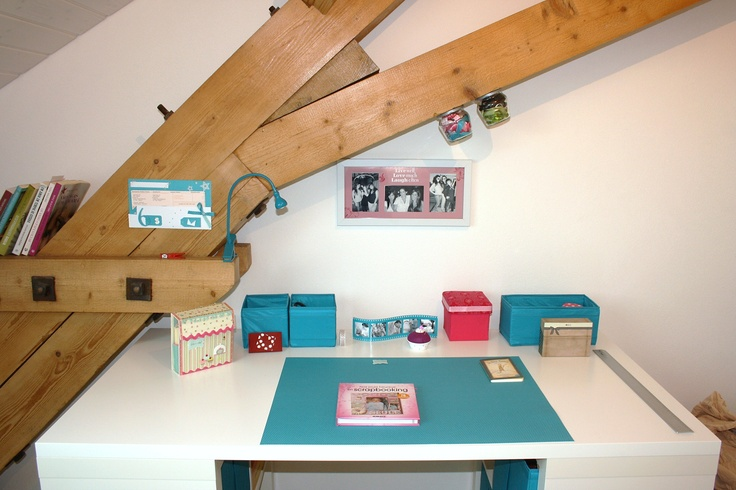 #Craft Room #Blue & White #Scapbooking #Bureau