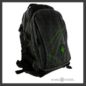 Perfect for the person on the go! The Back Pack has all the storage and pockets you need to get through the day, with plenty of room for books.  The Dime Bag Back Packs are made of Hemp, cotton and polyester give Dime Bags Storage Bags the renewable benefits of natural materials, and also the benefits of man made materials. We believe that nature and man can work together in a way that is good to the earth and keeps people working.