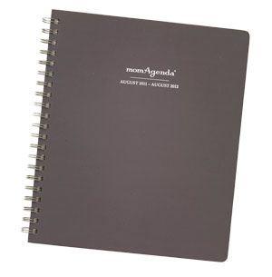 Mom Agenda is a great organizer for busy moms.  There is plenty of space to write in activities for the whole family.  I buy mine at Paperwhite in downtown Petaluma.