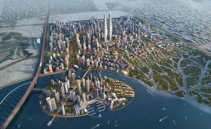 O novo complexo em Dubai onde ficarão as torres gêmeas mais altas da cidade