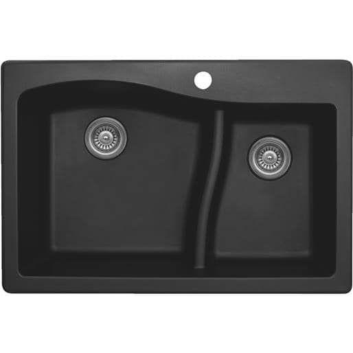 Karran USA Black Composite Sink QT 630 BL Unit: BOX