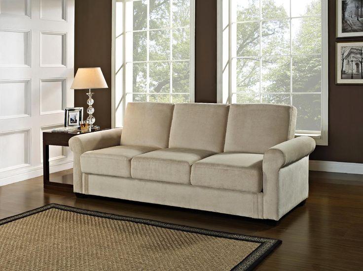 Serta Dream Tivoli Convertible Sofa Light Brown Furniture Mattresses Living Room Furniture