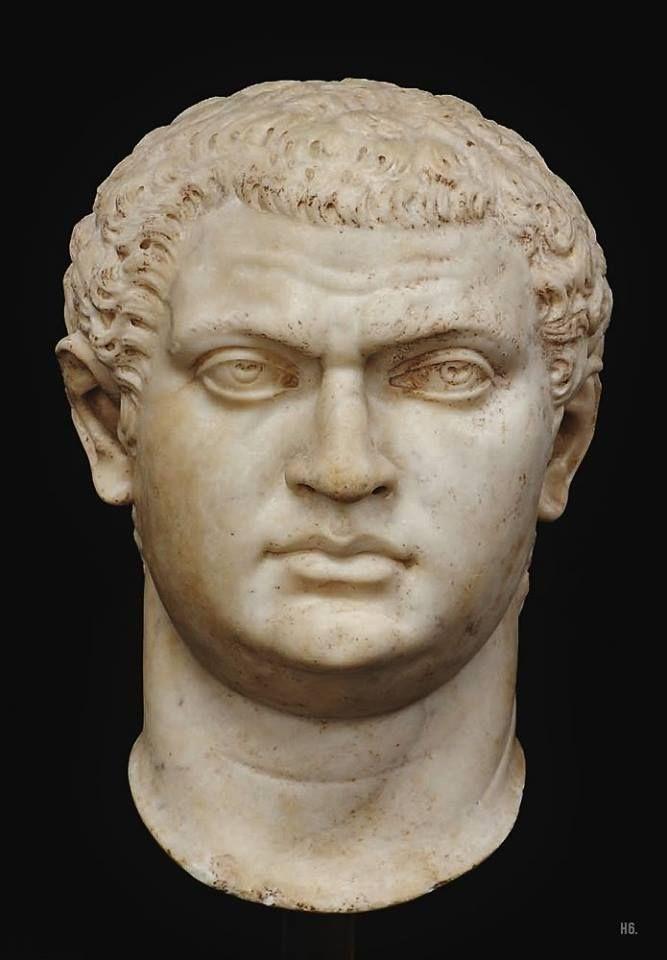 Presumed portrait head of the Roman emperor Geta, brother to Caracalla. c.3rd.century C.E.
