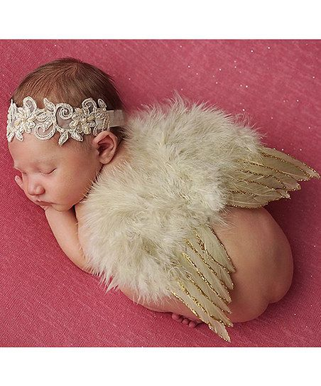 Tan Headband & Feather Wings