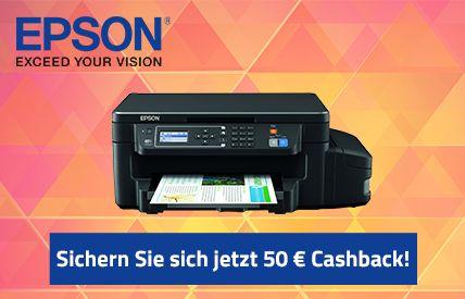 Jetzt neuen Epson Drucker auswählen und 50 € Cashback sichern → Es werden zwei verschiedene Cashback-Möglichkeiten angeboten: Alle Infos hier → ...
