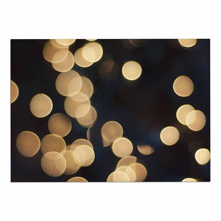 KESS InHouse Cristina Mitchell 'Blurred Lights' Black Gold Dog Place Mat, 13' x 18' ** Additional details at the pin image, click it  : Dog food container