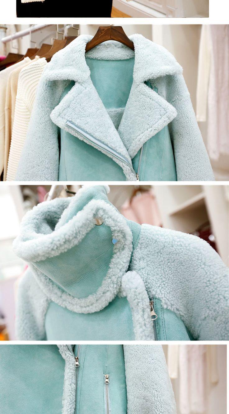 2017 зима корейских женщин новый тонкий ягненок пальто короткий пункт Harajuku замши осенью и зимой короткий пиджак - Taobao