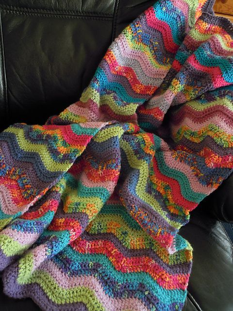 Free Crochet Afghan Patterns Using Variegated Yarn : 25+ best ideas about Ripple Afghan on Pinterest ...
