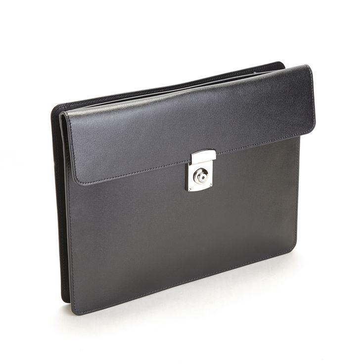Royce Rfid Blocking Executive Underarm Tablet Portfolio Brief in Saffiano