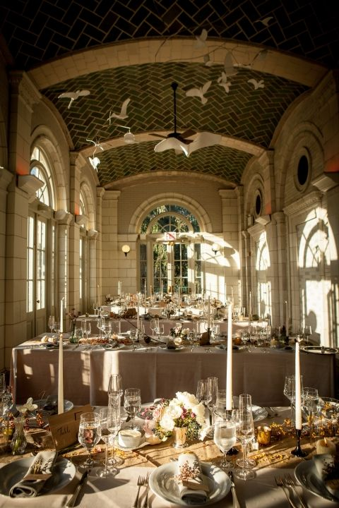 Amazing Fall Reception in Prospect Park Boathouse, NYC / Ryan & Alex's Lakeside Soiree / Photography by Miho Aikawa
