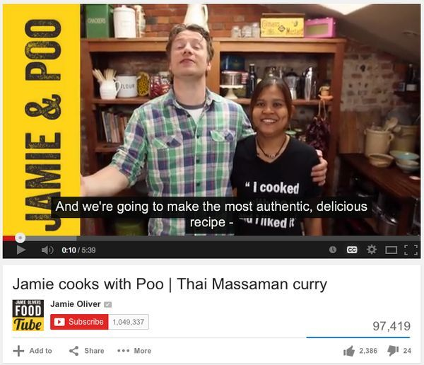 Jamie Oliver Cooking With Poo Teehee Maman Curry
