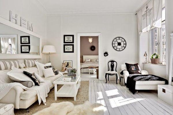 Romántico francés en un apartamento nórdico