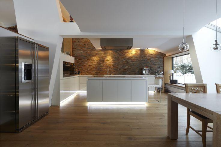 Bar mit verschiebbarer Theke - Elegante, klare Linien Home - offene küche mit theke