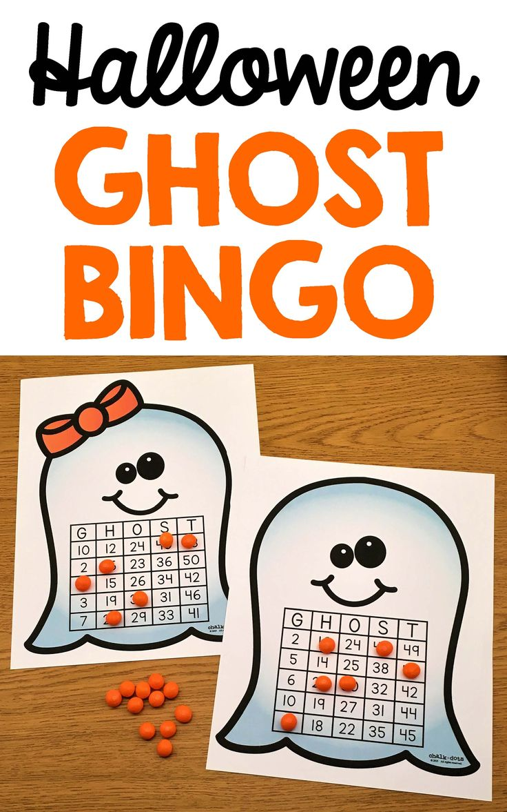 This Halloween bingo game is great to use any time during the Halloween season! It can be played as a whole class as a fun time filler or for a class Halloween party! It can also be used in small groups or put in centers and is useful to help younger students practice their number recognition. (1-50) I have included 50 calling cards and 20 different ghost bingo cards in both a colored version as well as a black and white version to save ink.