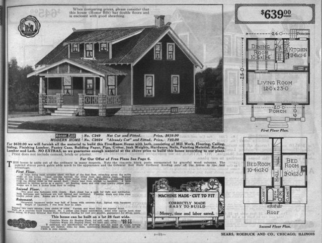 Bungalow floor plans in the sears catalog 1915 to 1917 for 1925 bungalow floor plan