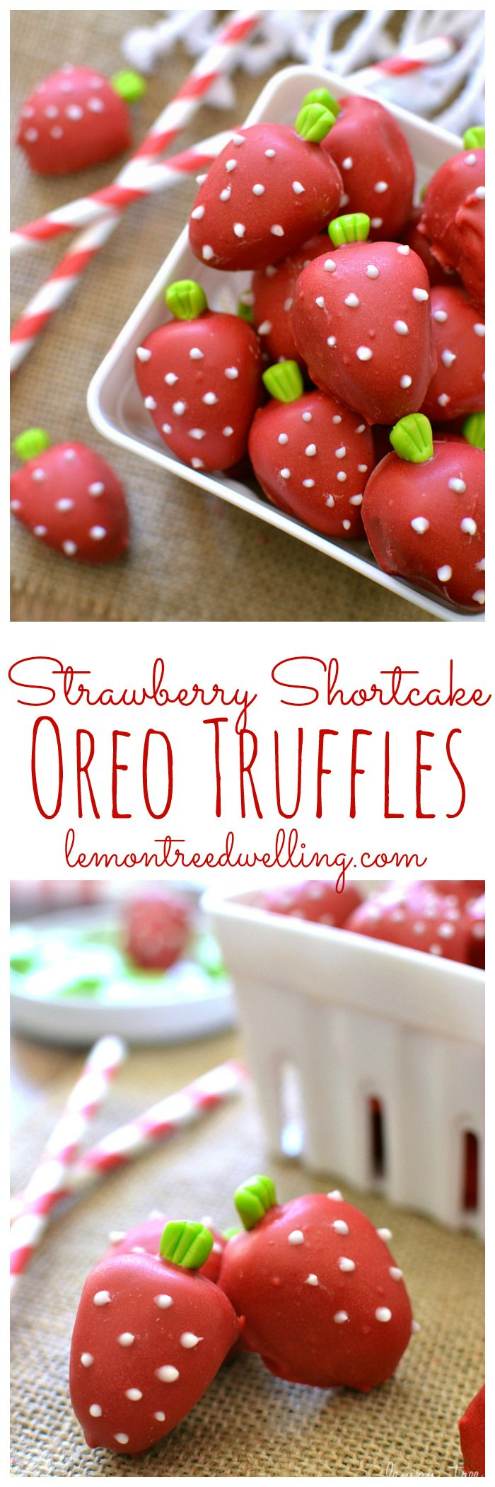 Strawberry Shortcake Oreo Truffles | Lemon Tree Dwelling