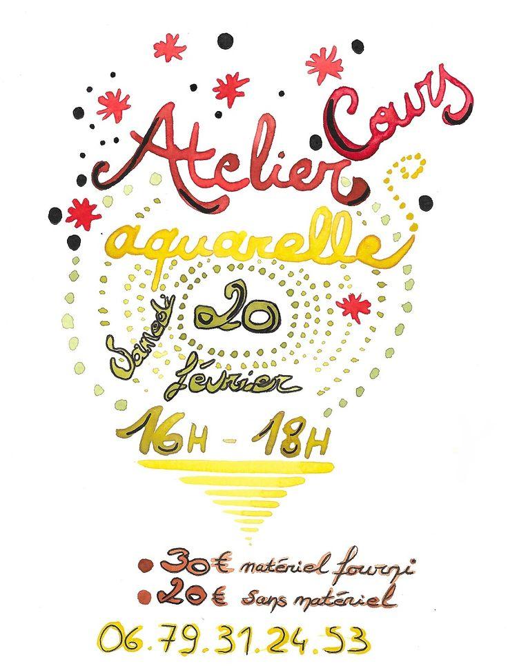 *Atelier aquarelle* Initiation à ma technique le samedi 20 février de 16h à 18h à l'Atelier des Couleurs - 100 ruen Jeanne d'Arc à Nancy.