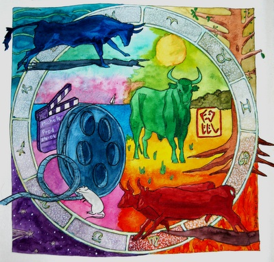 Color Wheel Drawing with a subject.: Creative Color, Color Wheels, Wheel Drawing, Project Ideas, Color Theory, Art Projects