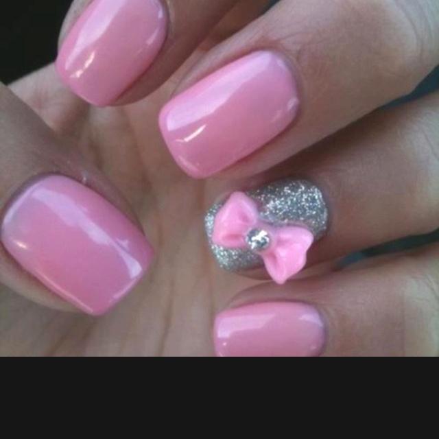 Bows: Nailart, Nail Designs, Makeup, Pink Bows, Beauty, Nails, Hair, Nail Art